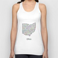 ohio Tank Tops featuring Ohio map by David Zydd