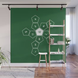 Green Unrolled D12 Wall Mural