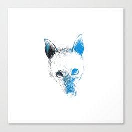 Flying fox face Canvas Print