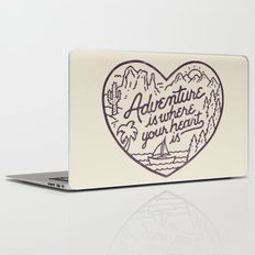 Adventure is where your heart is Laptop & iPad Skin