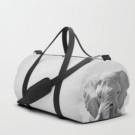 Elephant - Black & White Duffle Bag