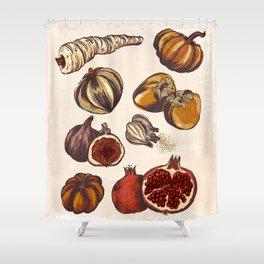 Fall Produce Shower Curtain