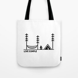 Live Simple Tote Bag