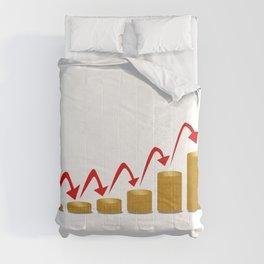 Rising Money Steps Comforters