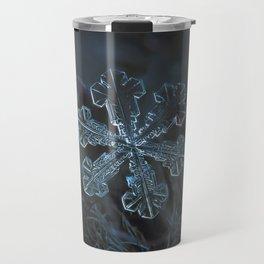 Vega (real snowflake macro photo) Travel Mug