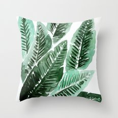Paradise Leaves Throw Pillow