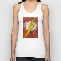 the flash Tank Tops featuring Flash by Big Tortoise Art (Art by JasonKoelliker)
