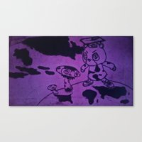 murakami Canvas Prints featuring Graduation by Jide
