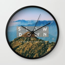 Great heights Wall Clock