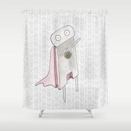 Robot superhero II Shower Curtain