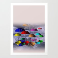 umbrellas for curtains and more Art Print