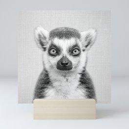 Lemur 2 - Black & White Mini Art Print