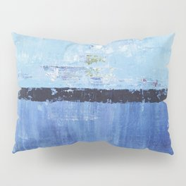 Shiver Abstract Art Blue Modern Water Painting  Pillow Sham
