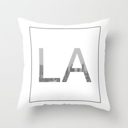 LA Los Angeles Skyline Throw Pillow
