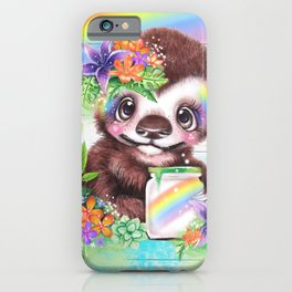 Catching Rainbows Sloth iPhone Case