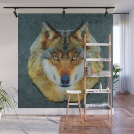 polygon wolf Wall Mural
