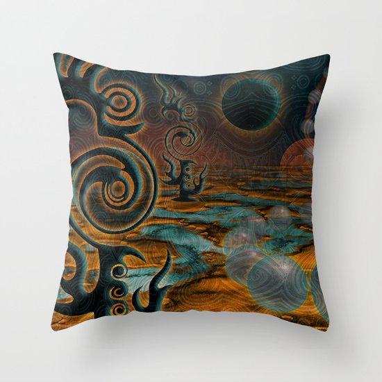 The Black Moon Throw Pillow