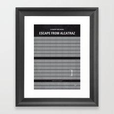 No566 My Escape From Alcatraz minimal movie poster Framed Art Print