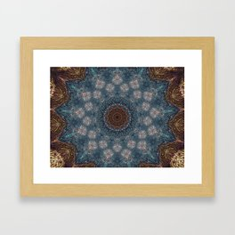 Shibori Blue Framed Art Print