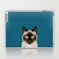 Ezra - Siamese Cat, Cute Kitten Retro Cat Art cell phone case, siamese, cute cat Laptop & iPad Skin