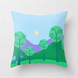 Kawai Landscape Throw Pillow
