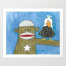 Sock Monkey 301 Art Print