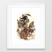 bouletcorp Framed Art Prints featuring Four Horsemen by Bouletcorp