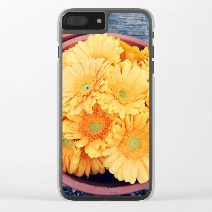 Orange germini Clear iPhone Case