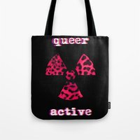 queer Tote Bags featuring Queer Active by Stranger In Parts