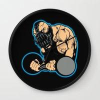 bane Wall Clocks featuring B gym 2 by Buby87