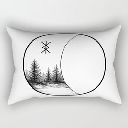 Forest Moon Rectangular Pillow