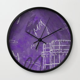 A la luna de Valencia - Purple Wall Clock