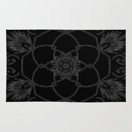 Black design Rug