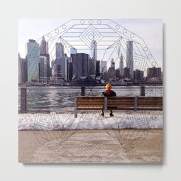 New York Mandala Metal Print
