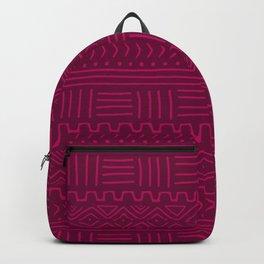 Mud Cloth in Raspberry Backpack