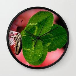 Lucky Butterfly Wall Clock