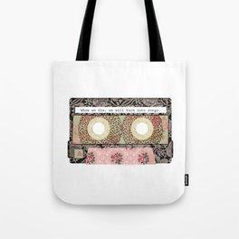 Floral Cassette Tape Tote Bag