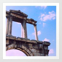Hadrian's Arch, Athens, Greece Art Print
