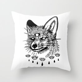 what the fox sees Throw Pillow