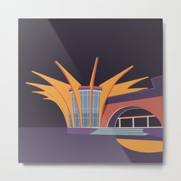 Soviet Modernism: Central bus station in Hrazdan, Armenia Metal Print