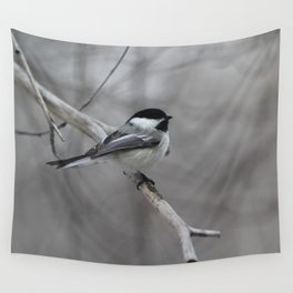 Black-capped Chickadee Wall Tapestry