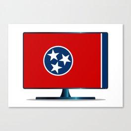 Tennessee Flag TV Canvas Print