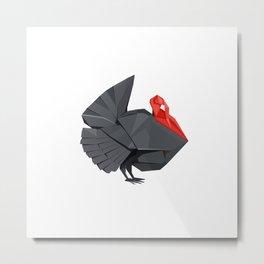 Origami Turkey Metal Print