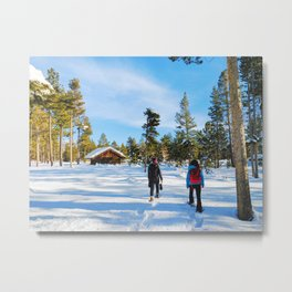 Snowshoes Metal Print