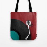 dj Tote Bags featuring DJ by Rceeh