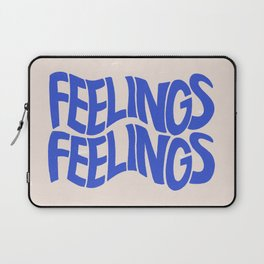 Feelings | Blue Laptop Sleeve