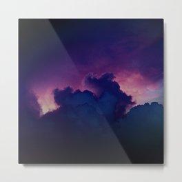 Bad Ass Purple Sky Metal Print