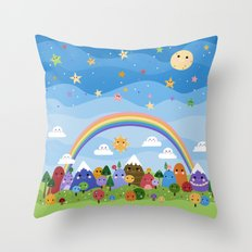 Cute World Throw Pillow