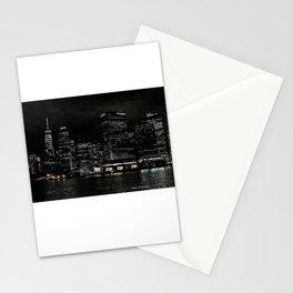 NYC Night Skyline 2015 Stationery Cards
