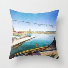 Lake Merritt Gondola Throw Pillow